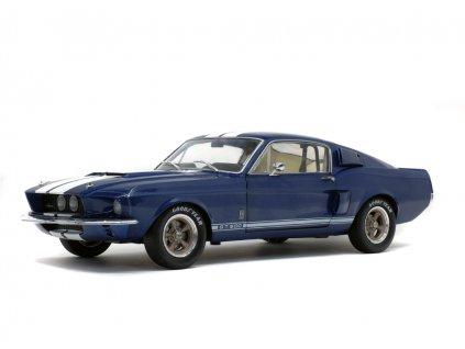 Ford Shelby Mustang GT500 1967 modrá bílé pruhy 1 18 Solido 1802903 01