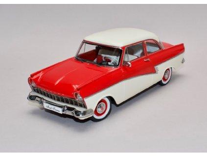 Ford Taunus 17M P2 1957 červená bílá střecha 1 18 KK scale 180271 01