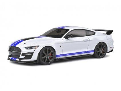 Ford Mustang Shelby GT500 Fast Track 2020 bílá modré pruhy 1 18 Solido 1805904 01