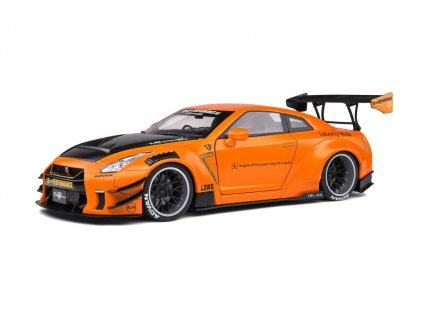 Nissan GT R R35 LB Works Type 2 orange metallic 1 18 Solido 1805803 01