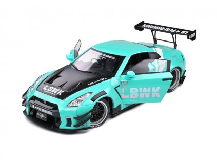 Nissan GT R R35 LB Works Type 2 mint green 1 18 Solido 1805804 01