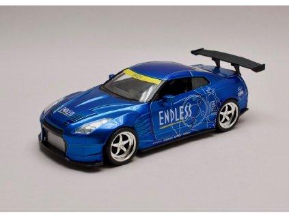 Nissan GT R R35 2009 Ben Sopra JDM Tuners modrá met 1 24 Jada Toys 98647 01