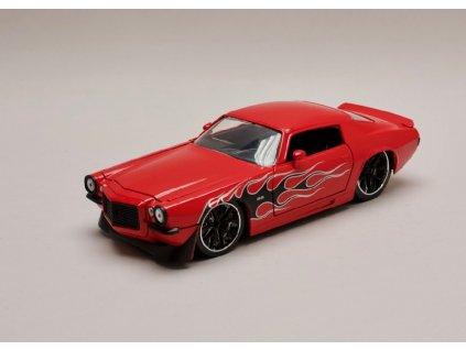 Chevrolet Camaro 1971 červená+plameny 1 24 Jada Toys 99969 01