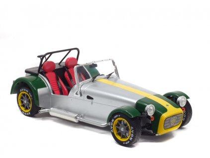 Lotus Seven 1989 stříbrno zelená 1 18 Solido 1801803 01