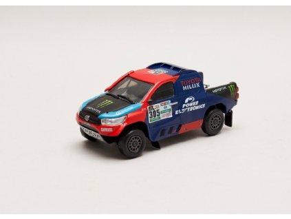 Toyota Hilux V8 #305 Rally Dakar 2017 1 43 Magazine models 01