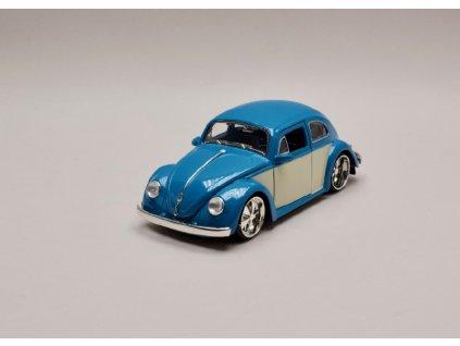 Volkswagen Beetle 1959 modrá bílá 1 24 Jada Toys 99018 01