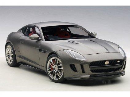 Jaguar F Type R Coupe 2015 Composite metalíza šedá 1 18 Auto Art 73654 01