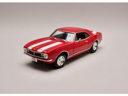Chevrolet Camaro Z28 1967 červená bílé pruhy 1 18 Lucky Die Cast 92188 01