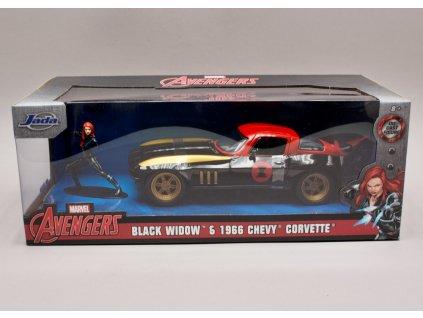 Chevrolet Corvette 1966 + figurka %22Black Widow%22 Avengers 1 24 Jada Toys 31749 01