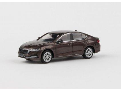Škoda Octavia IV 2020 hnědá Maple metalíza 1 43 Abrex 143ABS 036RH 01