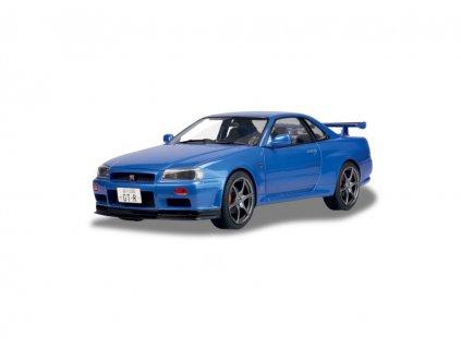 Nissan Skyline R34 GT R 1999 modrá 1 18 Solido 1804301 01