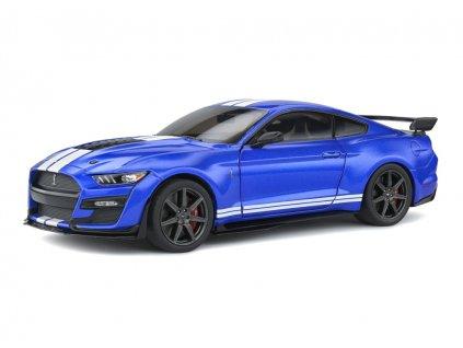 Ford Mustang Shelby GT500 Fast Track 2020 modrá bílé pruhy 1 18 Solido 1805901 01