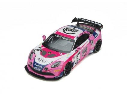 Renault Alpine A110 GT4 #8 Team Speed Car 2020 %22resin model %22 1 18 OttOmobile OT935 01