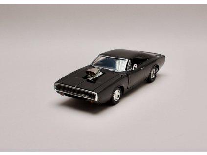 Dodge Charger R:T 1970 Dom`s Rychle a zb.černá lesklá (Fast & Furious) 1 24 Jada Toys 31942 01