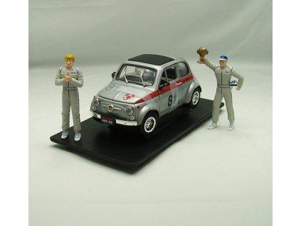 Fiat Abarth 695 SS 1963 + 2 figurky star.č.81 1:18 Yat Ming