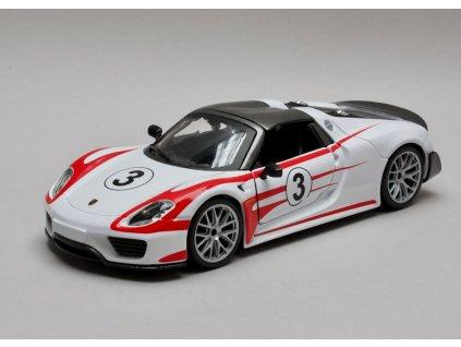 Porsche 918 Weissach # 3 bílá-červená 1:24 Bburago