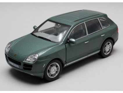 Porsche Cayenne S zelená metalíza 1-24 Cararama