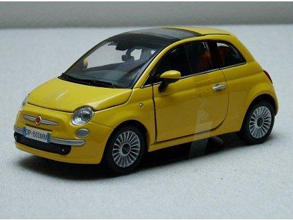 Fiat 500 Nuova žlutá 1:24 Mondo Motors