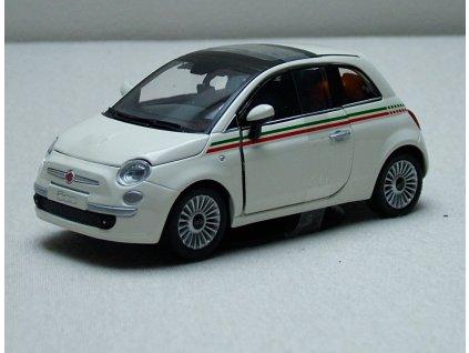 Fiat 500 Nuova bílá 1:24 Mondo Motors