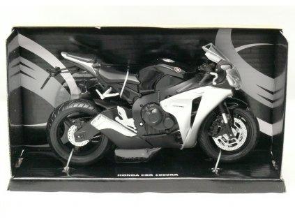 Motocykl Honda CBR 1000RR černo-stříbrná 1:12 Joy City