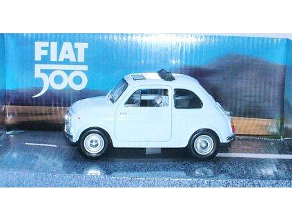 Fiat 500 Classic světle modrá 1:24 Mondo Motors
