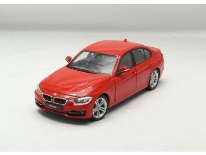 BMW 335i 2012 červená 1:24 Welly