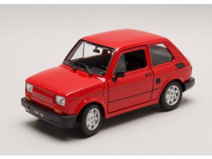 Fiat 126 červená 1:26 Welly
