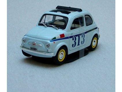 Fiat 500 Vintage 313 světle modrá 1:24 Mondo Motors