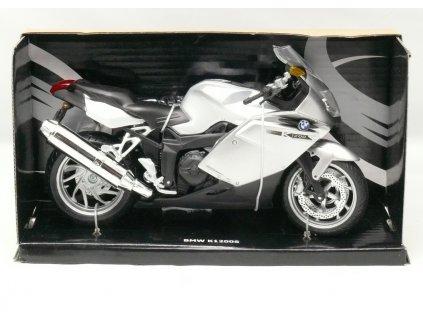 Motocykl BMW K 1200S černo-stříbrná 1:12 Joy City