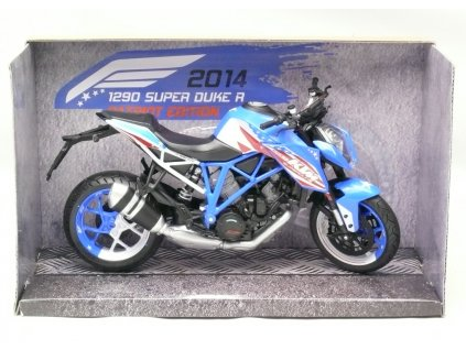 Motocykl KTM 1290 super duke R 2014 modrá 1:12 Joy City