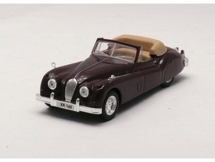 Jaguar XK140 1954-1957 vínovohnědá 1:43 Car Selection
