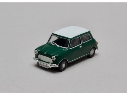 Mini Cooper S BMC 1966 zelená-bílá střecha 1:43 Car Selection