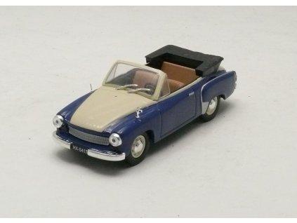 Wartburg 311-2 Cabrio modrá-béžová 1:43 Car Selection