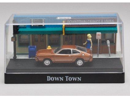 Ford Mustang II 1977 diorama Down Town 1:64 Motor Max