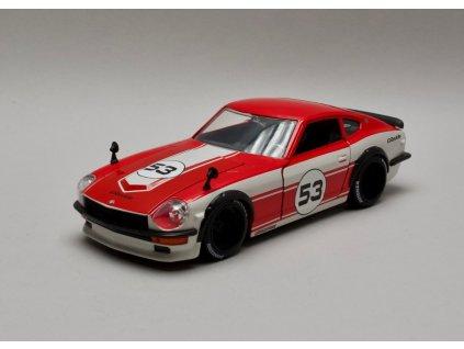 Datsun 240Z 1972 #53 červeno-bílá 1:24 Jada Toys