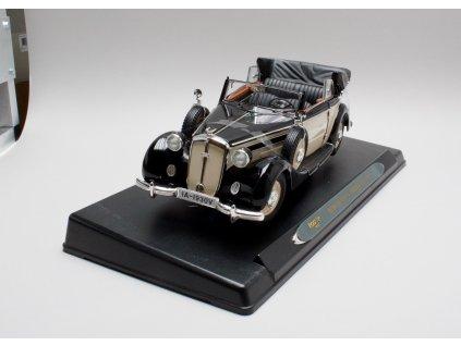 Horch 930 V Cabriolet + střecha 1939 černá-béžová 1:18 Ricko