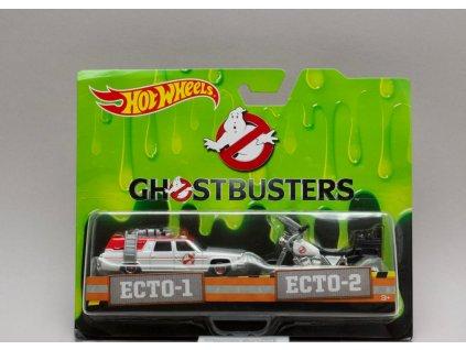 Ghostbusters ECTO-1 + ECTO-2 Krotitelé duchů 1:64 Hot Wheels
