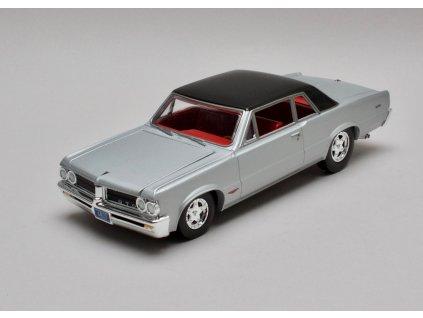 Pontiac GTO 1964 stříbrno-černá 1:24 Auto World