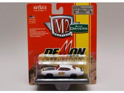 Pontiac GTO 1969 bílá 1:64 M2 Machines