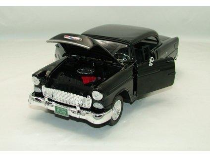 Chevrolet Bel Air 1955 Custom černá 1:18 Motor Max