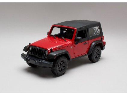 Jeep Wrangler 2014 červená 1:18 Maisto