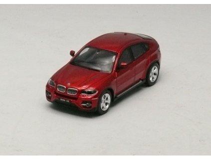 BMW X6 2010 metalíza červená 1:64 Absolute Hot China