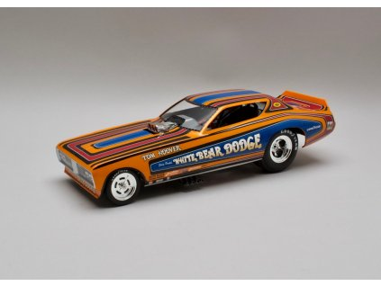 Dodge Charger 1971 White Bear Dodge Funny Car 1:18 Auto World