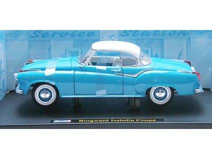 Borgward Isabella Coupé 1957 tyrkys modrá 1:18 Revell