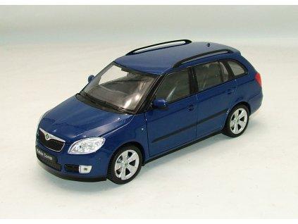 Škoda Fabia II Combi modrá 1:24 Welly