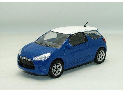 Citroen DS3 modrá-bílá střecha 1:24 Motorama