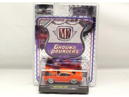 Pontiac GTO 1969 oranžová 1:64 M2 Machines