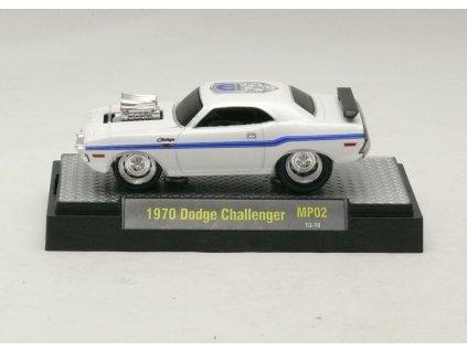 Dodge Challenger 1970 bílá 1:64 M2 Machine