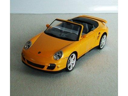 Porsche 911 Turbo Cabriolet metalíza žlutá 1:18 Mondo Motors