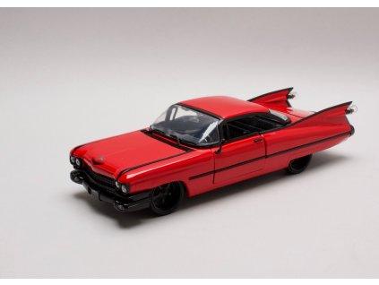 Cadillac 1959 Coupé Deville Hard top červeno-černá1:24 Jada Toys